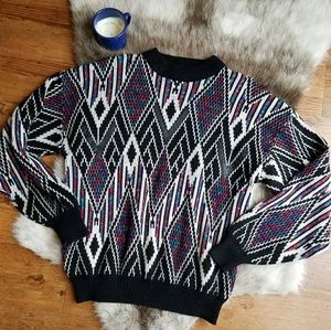 Vintage   McGregor Diamond Pattern Knit Sweater